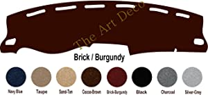 The ArtDeco Custom Made Carpet Dash Cover Fits for Honda Odyssey Dash Board Cover Mat Pad Fits 2011-2017 (Brick/Burgundy)