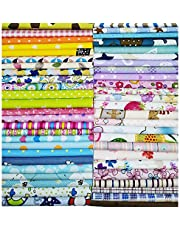 Misscrafts Quilting Fabric Cotton Craft Fabric Bundle Squares Patchwork Pre-Cut Quilt Squares for DIY Sewing Scrapbooking Quilting