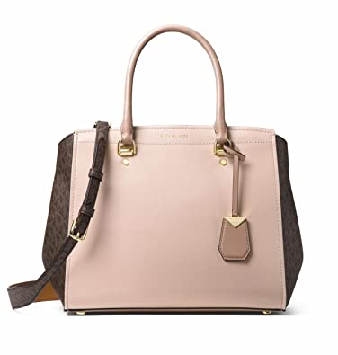 MICHAEL Michael Kors Benning Leather Medium Satchel Bag, Soft Pink