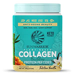 Sunwarrior Plant-Based Collagen Building Protein Peptides with Hyaluronic Acid & Biotin (Vanilla)(Vegan)