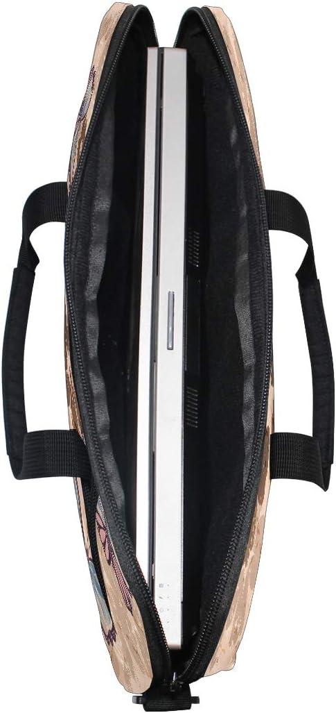 Butterfly Art Laptop Notebook Computer Tablet Carrying Crossbody Shoulder Bag Fits 13-14.5 in for Men Women