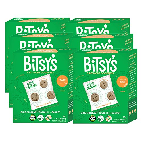 - Bitsy's Multi-Pack Good Cookies, Gingerbread Zucchini Carrot, 4 Ounce, 6 Count