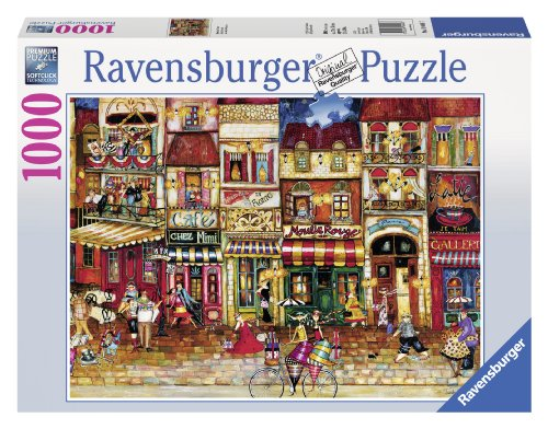 Ravensburger Streets of France 1000 Piece Jigsaw Puzzle for Adults - Every piece is unique, Softclick technology Means Pieces Fit Together Perfectly