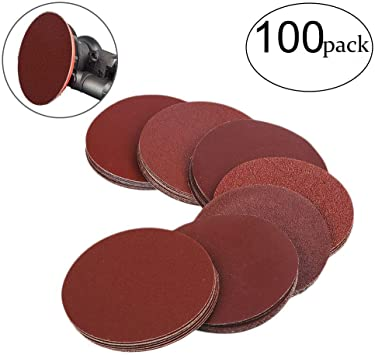 180 Hook /& Loop Variety Pack 5 Discs Each of Grits 80 120 World Abrasive 3 No Hole Film