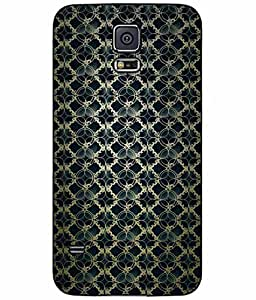Gold and Black Pattern TPU RUBBER SILICONE Phone Case Back Cover Samsung Galaxy S5 I9600