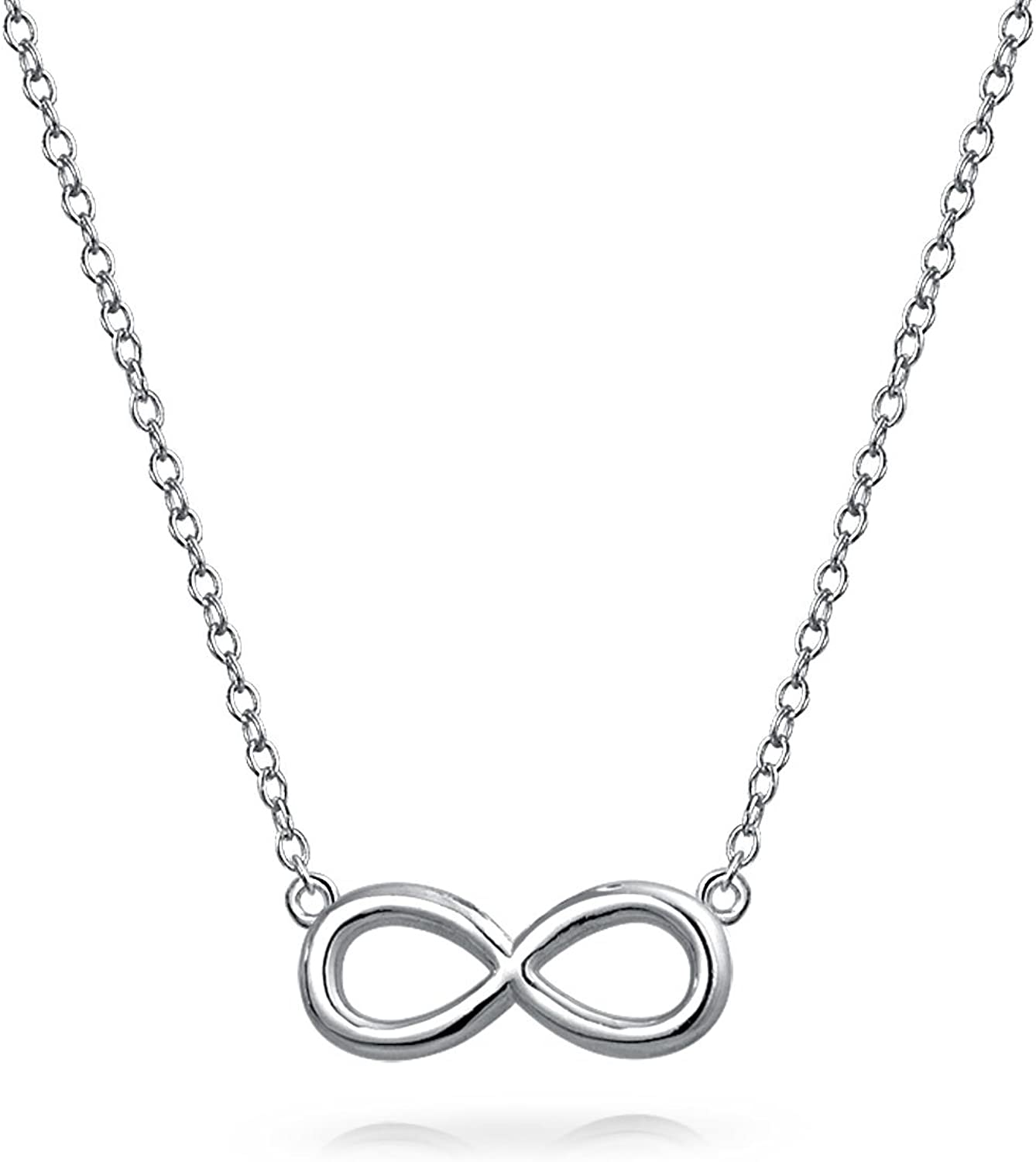 Figure 8 Necklace Pendant .925 Sterling Silver Women/'s Jewelry Infinity Charm