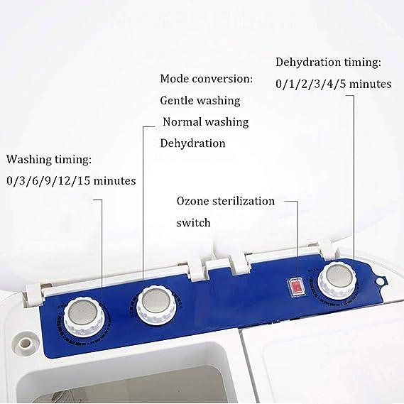 KYL Mini máquina portátil de Lavado, Doble Tina Secarropas Combinación, esterilización de ozono, Inicio semiautomática for bebé pequeño niño Ropa de bebé: Amazon.es: Hogar