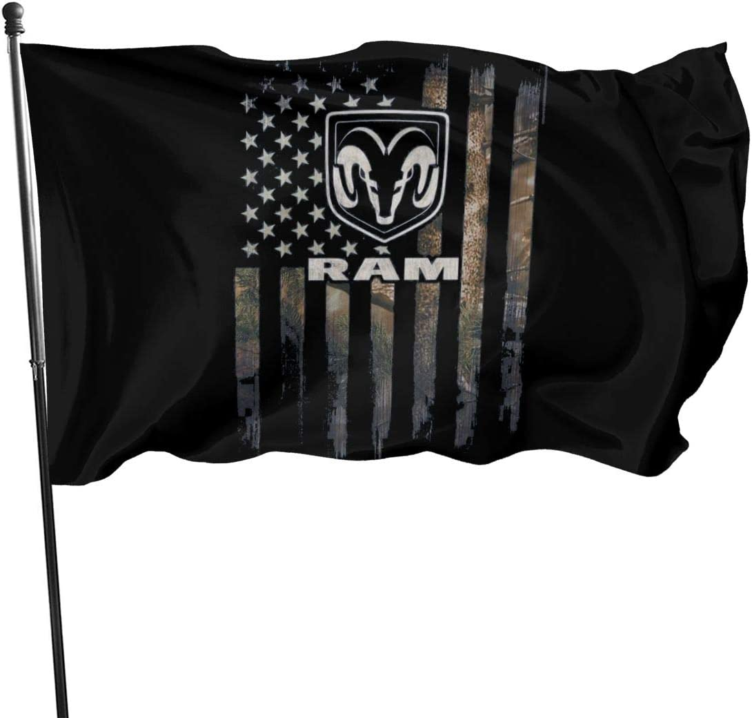 Ahdjagsads56 Dodge Ram Garden Flag Double-Sized Print Decorative Holiday Home 3x5 Ft Flag