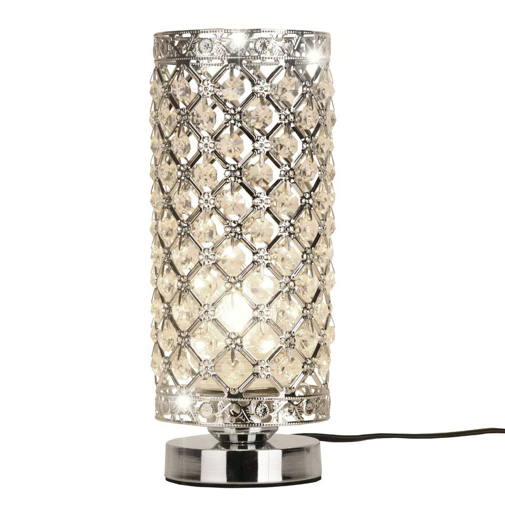 MC-29021 Crystal Silver Table Lamp Surpass Lighting .