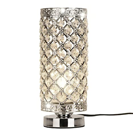 Crystal Silver Table Lamp Amazon Com