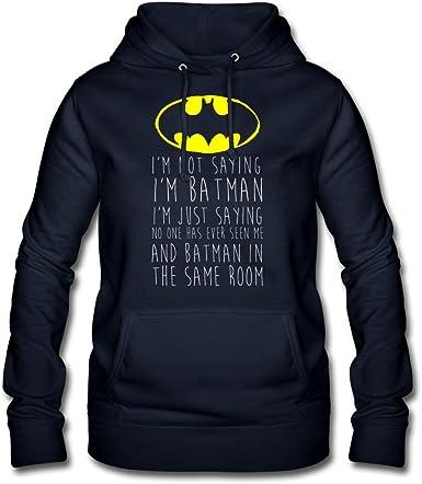 DC Comics Citation Batman Sweat à Capuche Femme: