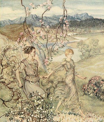 Posterazzi Irish Fairy Tales 1920 Apple-blossoms & Honey Poster Print by A. Rackham (18 x 24)