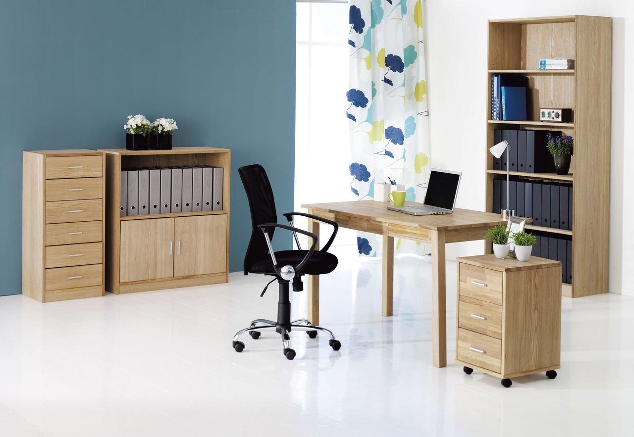 SILKEBORG Tel, JYSK escritorio 3 cajones madera de roble: Amazon ...