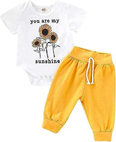 Newborn Infant Baby Girl 2pcs Floral Clothes Tops Dress Shorts Pants Outfits Set