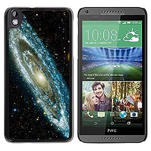 Galaxia de estrellas - Metal de aluminio y de plástico duro Caja del teléfono - Negro - HTC DESIRE 816