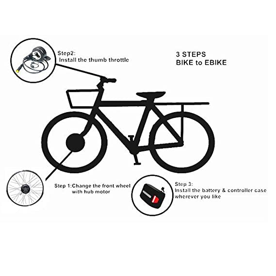 Only Three Steps Convert Bike To Ebike With Elecycle Electric Bike