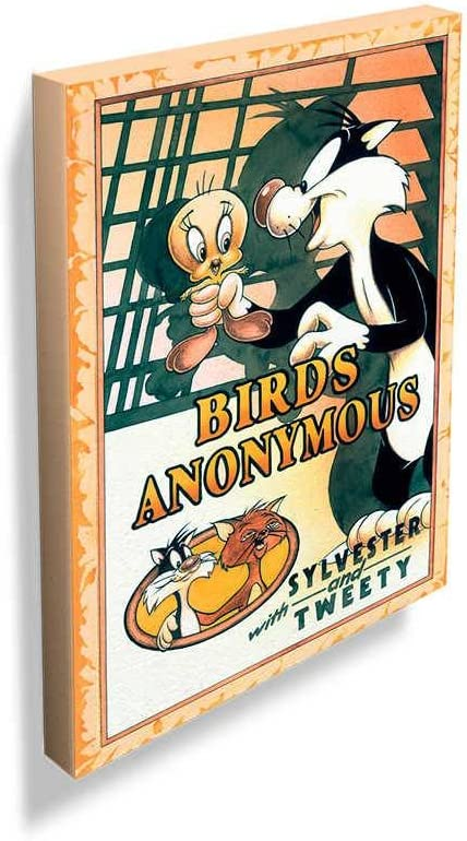 Tela Looney Sylvester And Tweety Birds Anonymus Movie Poster