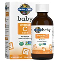 Garden of Life Baby Vitamin C Liquid for Baby's Immune Support, Liquid Vitamin C...
