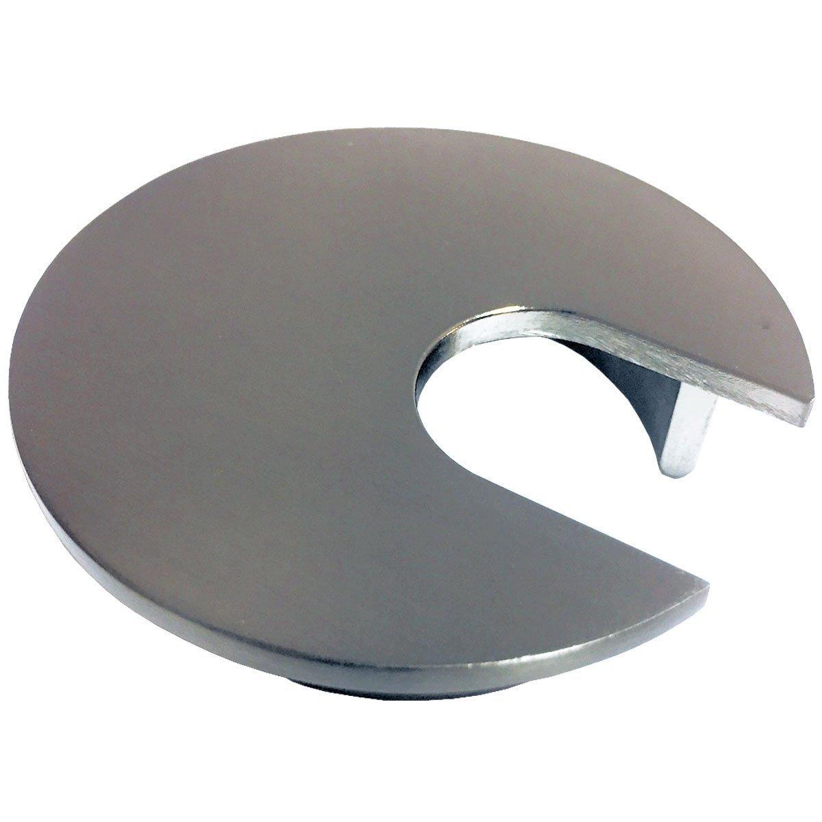 2'' Metal Desk Grommet - Color: Brushed Nickel - 3 Pieces