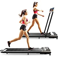 TELESPORT Folding Treadmill, 2 in 1 Under Desk Foldable Electric Exercise Machine for Home Office Running Jogging…