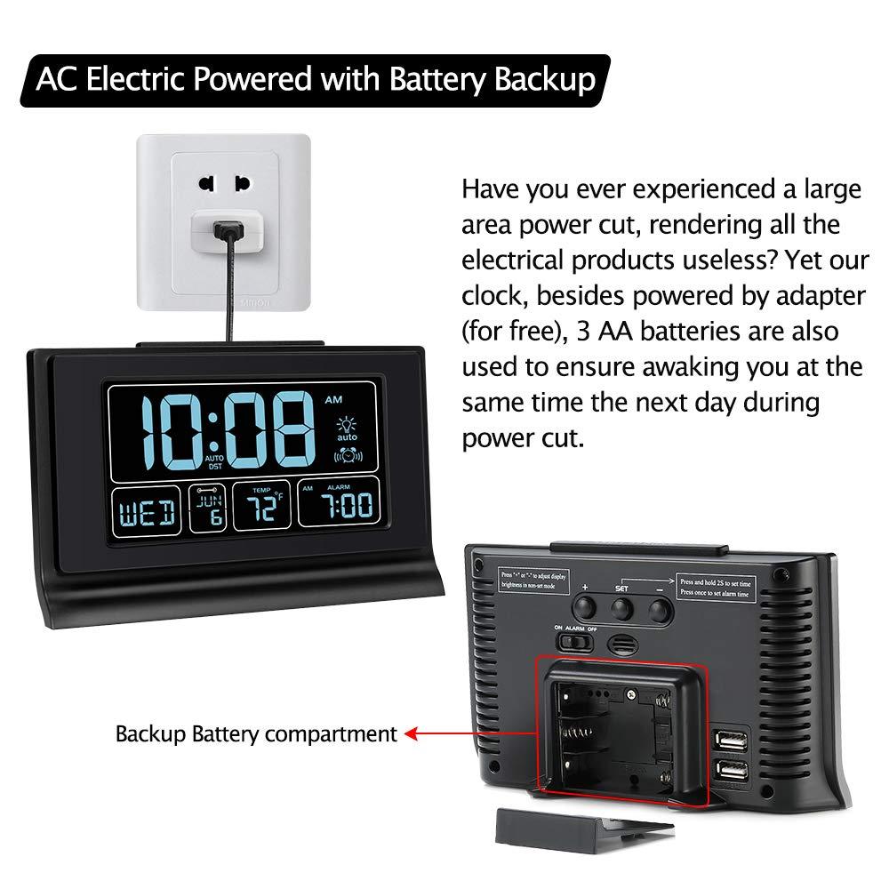 Amazon.com: DreamSky - Reloj despertador digital con puerto ...
