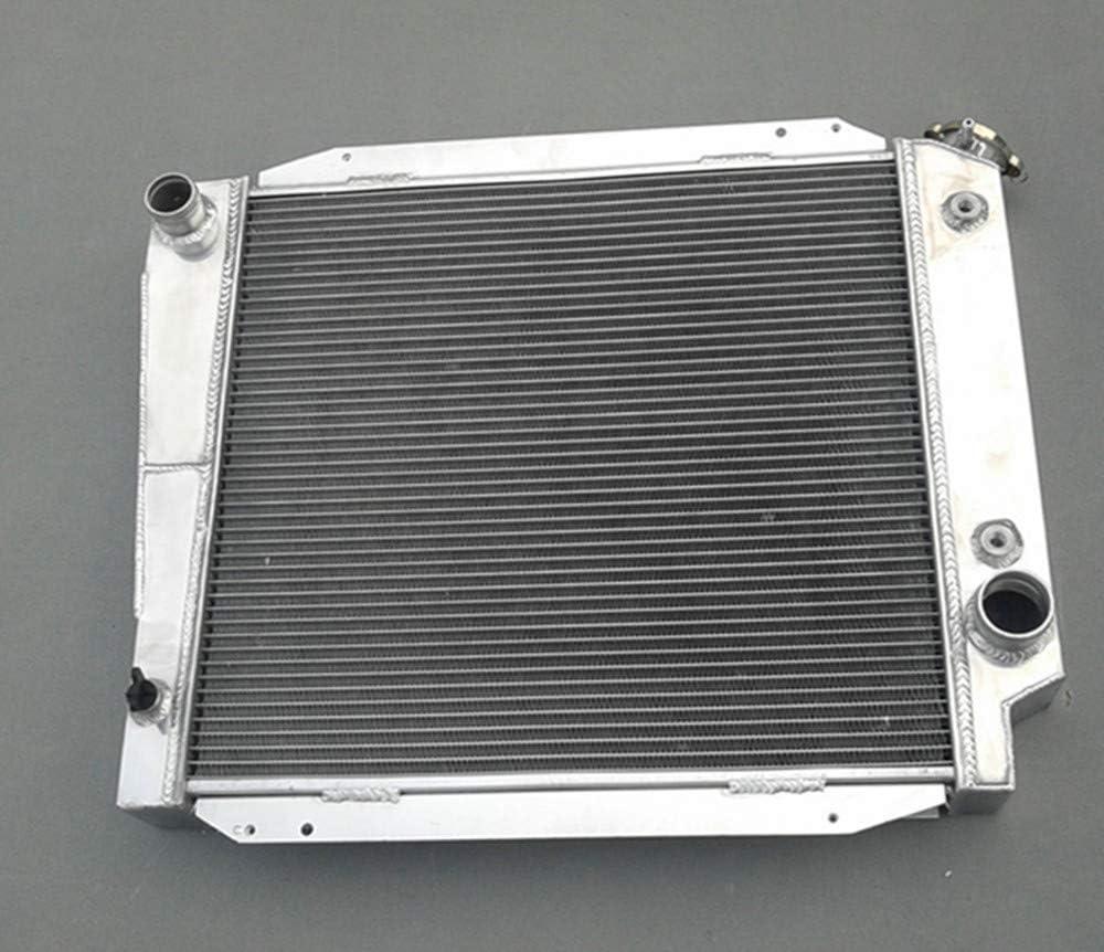 "3-ROW ALUMINUM RACING RADIATOR+14/"" FAN 66-77 FORD BRONCO WAGON//ROADSTER 5.0L V8"