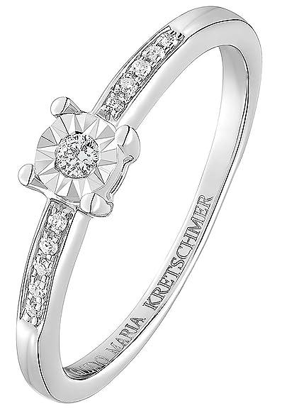 Guido Maria Kretschmer By Christ Damen Ring 375er Weissgold 1 Diamant