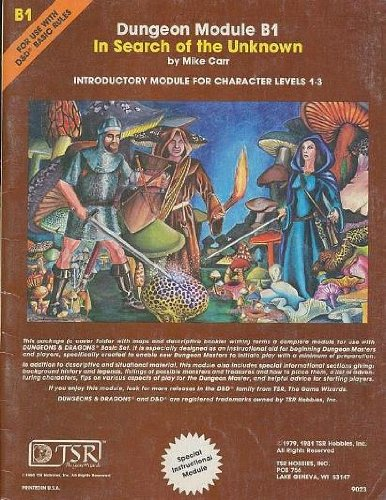 In Search of the Unknown (Dungeons & Dragons Module B1) (Dungeon module) (Dungeon And Dragons Modules compare prices)