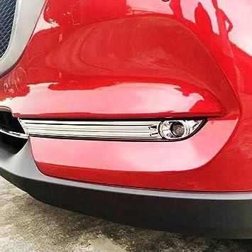Kadore for 2017-2019 Toyota Highlander Chrome Car Front Headlight Cover Trim Molding 2-pc