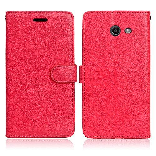 JIALUN-Personality teléfono shell Funda de cuero magnética de la cartera de la PU del diseño de la hebilla magnética, [ranuras de 3 tarjetas] Cubierta de la caja del soporte del tirón horizontal para  Red