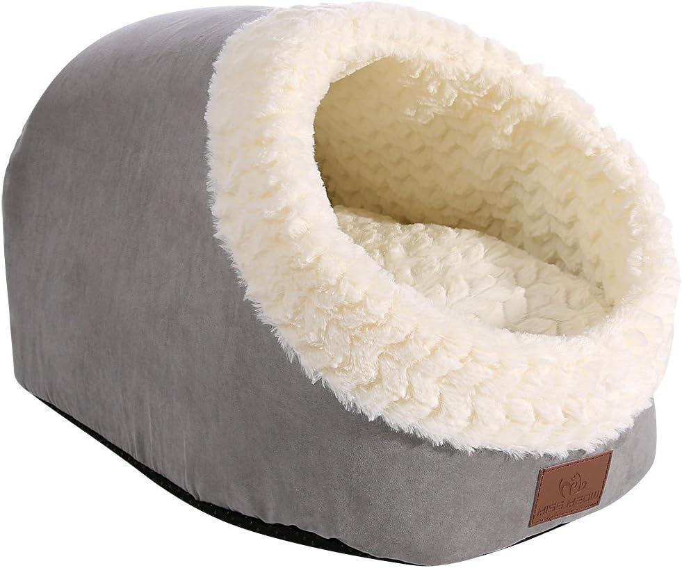 Amazon.com: Miss Meow - Cama para gatos con forma de cueva y ...