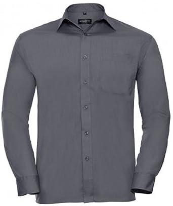 Absab Ltd Russell Collection Mens Long Sleeve Poplin Workwear