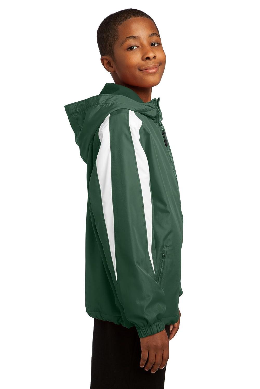 Sport-Tek Boys Fleece Lined Colorblock Jacket