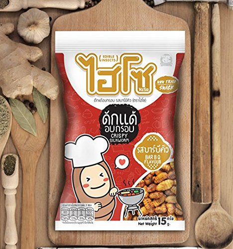[Crispy Silkworm Barbeque Flavor Fried Snack Edible Insect Hiso 15 G.] (Womens Three Musketeers Costumes)