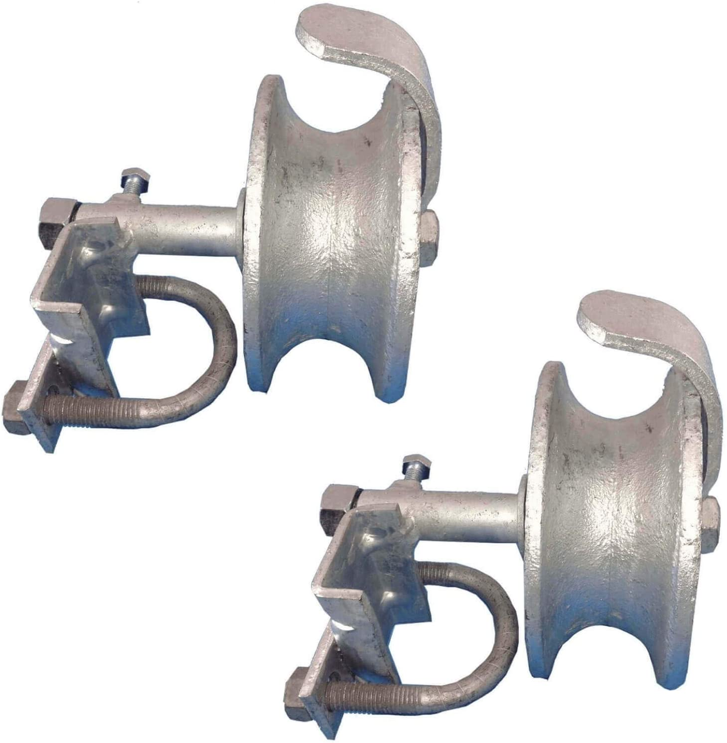 Chain Link Fence Rolling Gate Band Type Track Bracket for 1-5//8 Track 2 Pc Pack