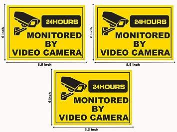 CCTV self adhesive sticker