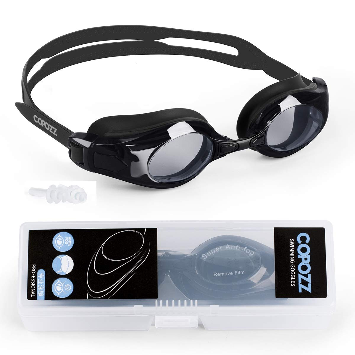 Las gafas de natación COPOZZ vienen con lentes extragrandes dobles con espejo antiniebla y sellos de silicona 3D que brindan a los nadadores una visión ...