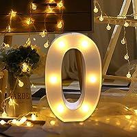 LED Decorativos Números Iluminados,0-9 Luminosas Decorativas con Luces LED,Números Arábigos para el Cumpleaños Fiesta de…