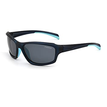 Gafas de Sol Polarizadas Deporte Hombre Mujer Béisbol Correr Ciclismo Pescar Golf(Azul/Polarizado Gris): Amazon.es: Deportes y aire libre