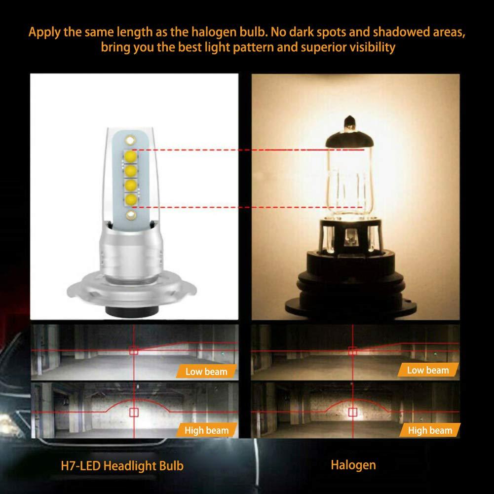 20800lm blanc faible DEBBD 1 paire h7 led conversion phare set cob ampoule 110w