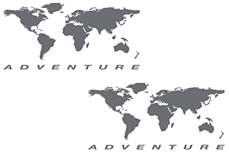 Amazon the pixel hut gs000037b adventure motorcycle decal kit the pixel hut gs000037b adventure motorcycle decal kit quotworld adventure mapquot for touratech gumiabroncs Gallery