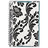 """AT-A-GLANCE Academic Weekly / Monthly Appointment Book / Planner, July 2017 - June 2018, 4-7/8"""" x 8"""", Customizable, Madrid, White/Black (793-201A),"""" Small"""