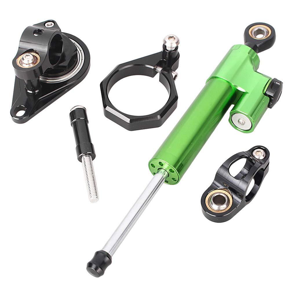 Newsmarts Steering Damper Set with Bracket, Motorcycle Steering Damper Stabilizer Buffer Control Bar Fits Suzuki GSXR 600 750 2006-2010