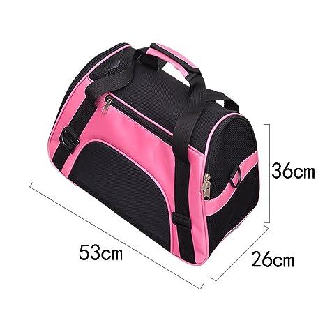 Bolso de transporte transpirable para perros y gatos de Unicoco, color rosa, tamaño large