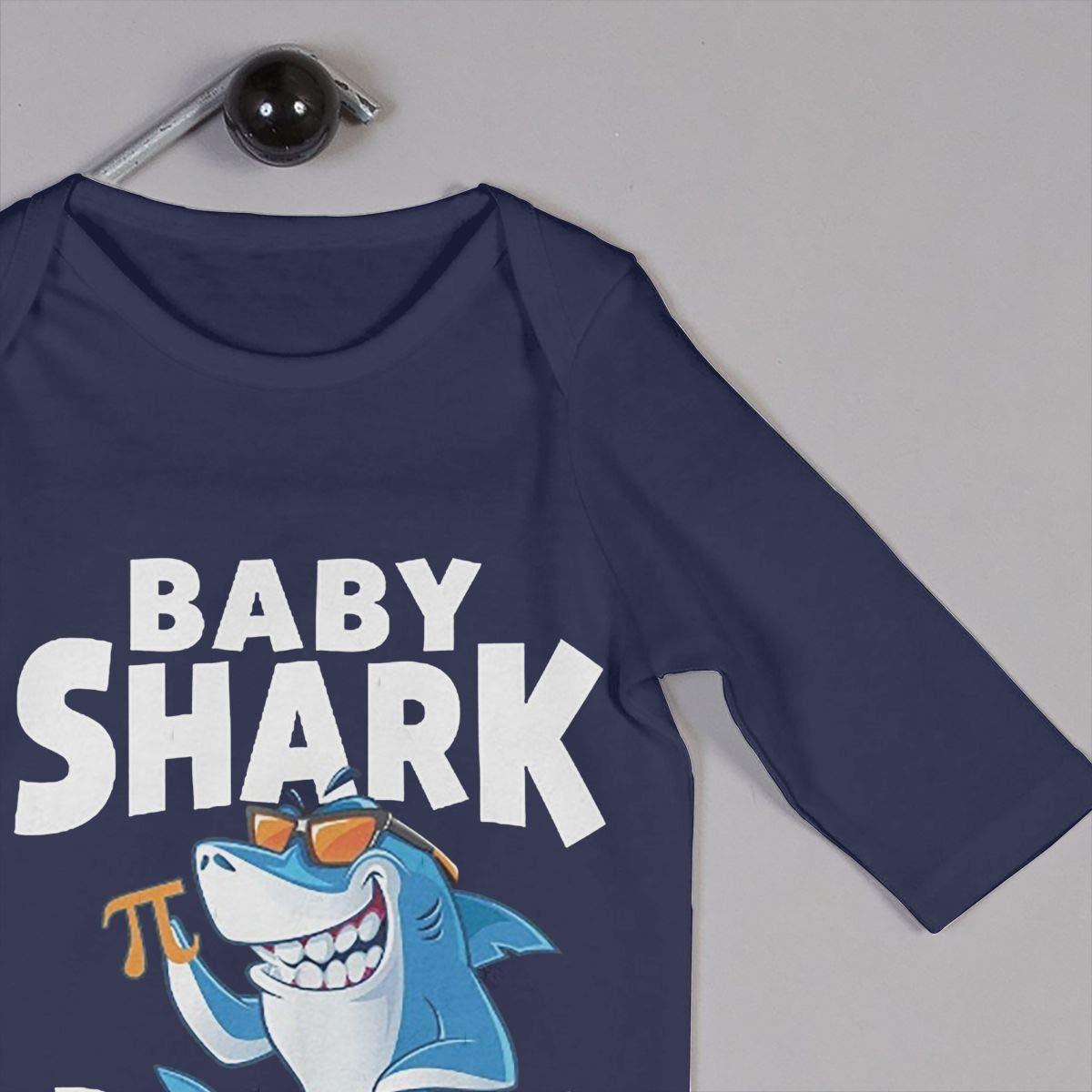 Baby Boy Girl O-Neck Long Sleeve Pure Color Climbing Clothes Baby Shark Pi Crawling Clothes