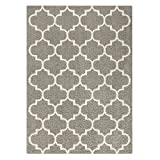 Area Rugs, Maples Rugs [Made in USA][Molly] 7' x 10' Non Slip Padded Large Rug for Living Room, Bedroom, and Dining Room - Greystone