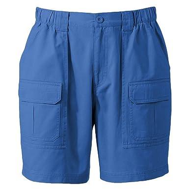 Croft & Barrow Mens Side Elastic Twill Cargo Shorts (29, Blue ...
