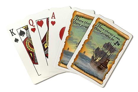 Amazon.com: Barco pirata (tarjeta de baraja de cartas – 52 ...