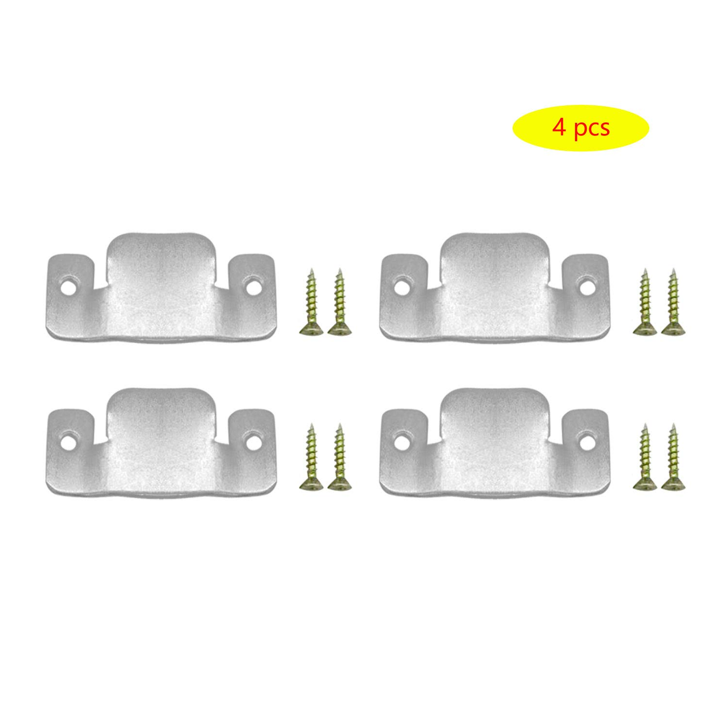 AWTOK Sectional Sofa Connector Bracket, Sectional Couch Connectors Bands for Sectionals,Furniture Connectors with Screws,4 Pieces