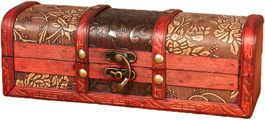 Small Brass Chest Lock with Key jewelry box keepsake tiny antique vintage fancy